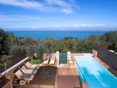 Photo for Secluded Private Pool Villa in North Corfu