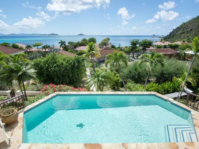 Photo for Remarkable Island and Sea Views, Hexagonal Freshwater Pool, 2-min Walk to Beach, Wet Bar
