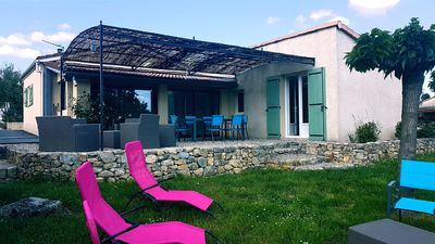 Photo for Charming villa in Vallon Pont D'arc with heated pool