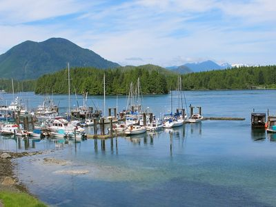 View of Tofino's Inner Harbour and Meares Island