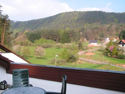 Photo for Holiday Waldblick Schwanheim with large terrace and stunning views