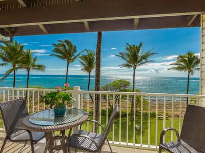 Photo for Kapaa Shore Resort #308, Oceanfront, Moon Rise & Sunrise views from 3rd floor