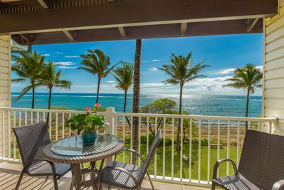 Enjoy beautiful oceanfront views from your lanai - The view from your private lanai.