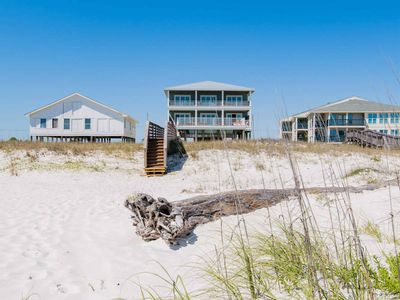 Photo for STUNNING Beach Home. Directly on the Beach with Private Pool and Boardwalk!