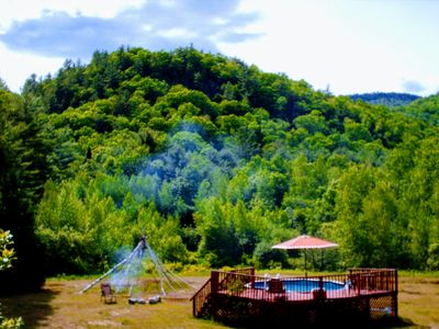 Photo for Amazing Geodesic Dome House-Hot Tub-Pool-Fireplace- WiFi-Near Sunday River Ski