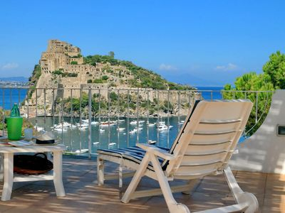 Photo for Ischia, wonderful apartment for 7 people with sea view terrace