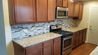 This is a very nice, comfortable small house with lots of kitchen countertops.
