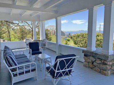 Annisquam Heights-Enjoy the summer breezes relaxing on the deck.