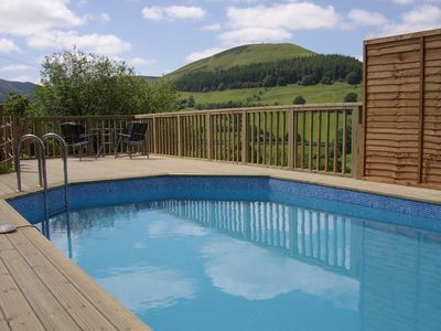 Photo for Large barn conversion in the Cambrian Mountains, private pool and spa.