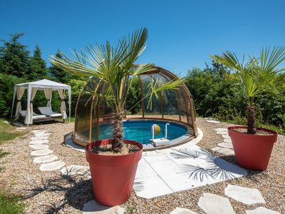 Photo for South Burgundy Clunysois Cottage, private heated pool, sauna, aquabike,