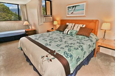 Master Bedroom with King Size Bed and Alcove