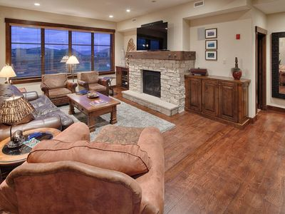 Photo for Sumptuous condo with mountain views, on-site concierge and winter shuttle service -- sleeps 9