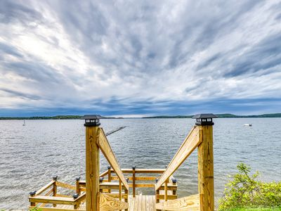 Photo for NEW LISTING! Lakefront cabin w/ beach access & 180-degree view of Lake Champlain