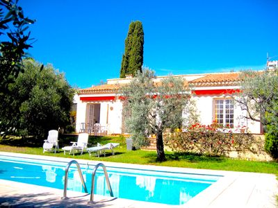 Photo for Superb villa Villa Swimming pool Jardin-Soleil Calme View sea-Heights of Nice