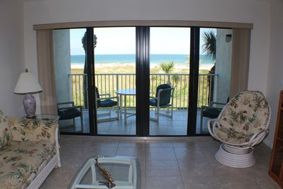 View of Beach from Living Room!!!