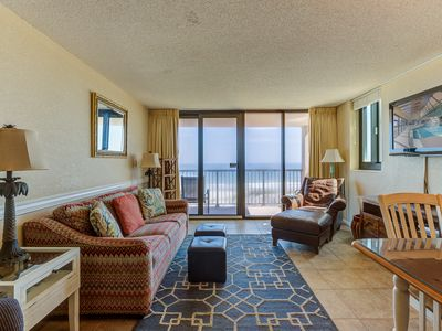 Photo for Oceanfront three bedroom,two bath with indoor swimming pool and sunning area