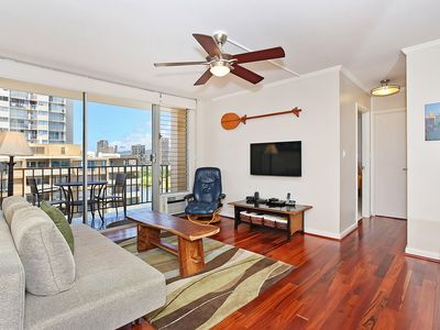 Photo for Great views, deluxe 1 bedroom, AC, washer/dryer, washlet, WiFi, parking.
