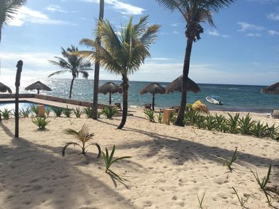 Photo for $99 night Spring Special for True Beachfront Condo In beautiful Akumal MX