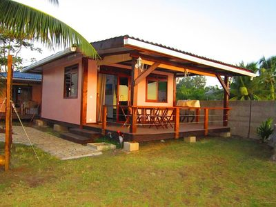 Photo for OCEAN FRONT BUNGALOW AT Tahiti Surf Beach Paradise