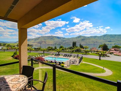Photo for Lake views from this bright, upscale condo w/pool & hot tub access!