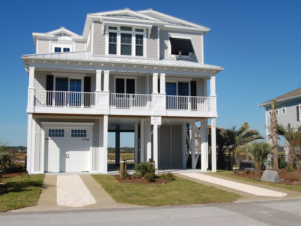 Brand New Waterfront Beach House W Private Pool And Dock On Sunset Island