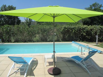 Photo for 4 bedroom villa, air conditioning, garden, pool, quiet 3 min center Taradeau