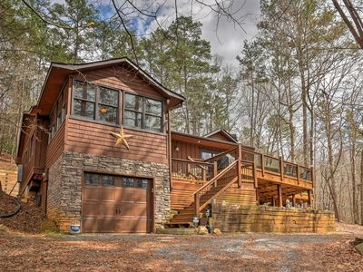 Photo for Secluded & Luxury Ellijay Cabin w/ Hot Tub & Deck!