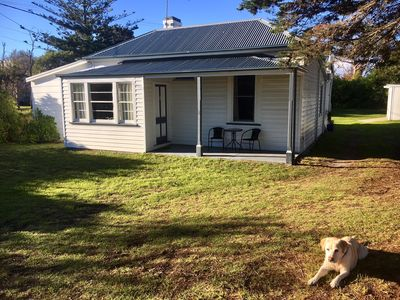 Photo for Peaceful, heritage listed cottage on large block right opposite Lagoon Beach.
