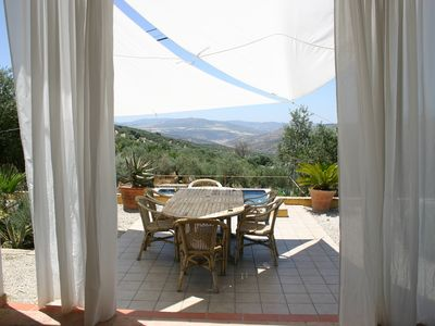 Photo for Gorgeous 5 bed Villa with gated private pool, gardens, Wifi and Views to Lake