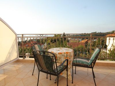 Photo for Studio flat with terrace and sea view Mlini, Dubrovnik (AS-8569-a)