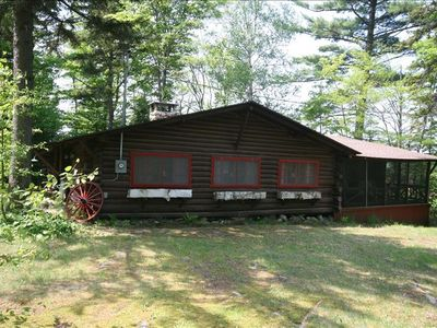 Photo for The Old Wheel - Rustic Log Cabin
