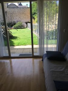 Photo for Nice 2 rooms in ground garden, clear and calm, close to the beaches, Dinard-center
