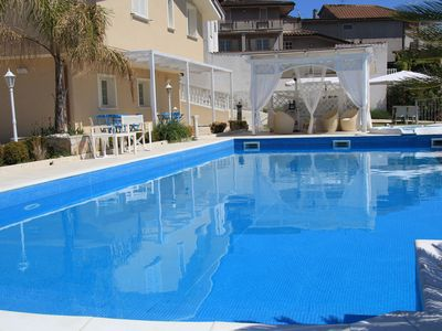 Photo for PANORAMIC VILLA IN HILL WITH SEA WATER SWIMMING POOL