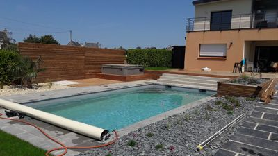 Photo for Modern and spacious house - 10 people - pool and spa - in front of the sea