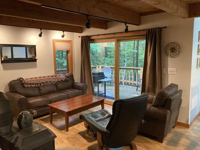 Photo for Four-level North Conway Condo - abuts National Forest, easy to all amenities!