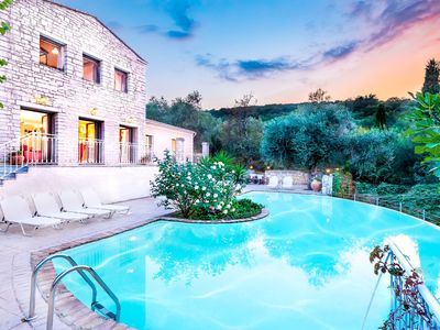 Photo for Beautiful villa with 4 bedrooms and panoramic views located above Kassiopi