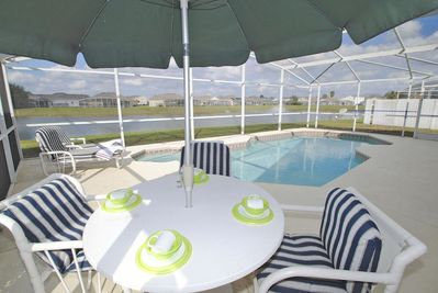 Patio table with parasol