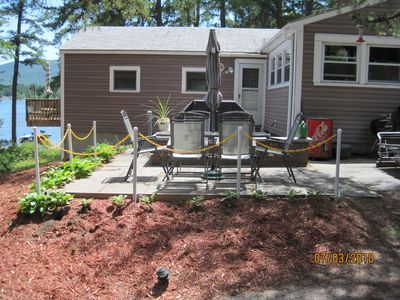 Photo for 4 season cottage on  Lake Ossipee. Private 100' sandy beach
