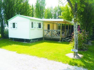 Photo for Camping Cendrée Seagull *** - Mobile home Grand Confort Terrace 3 Rooms 4/6 People