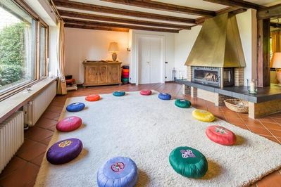The meditation room is the heart of the house.