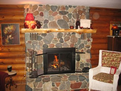 Photo for Special Fall Rates 4 Bedroom Log Home On a Great Private Lake, WiFi, Dish TV