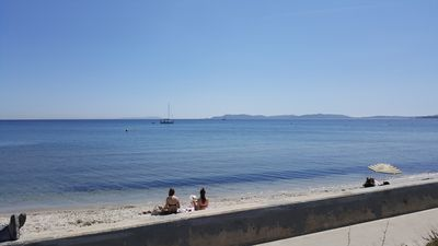 Photo for At the seaside, pretty studio renovated with large terrace, peninsula of Giens