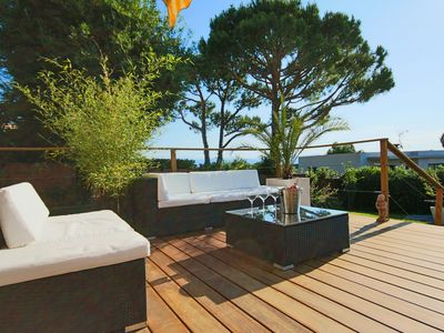 Photo for Antibes House in quiet area with pool and tennis