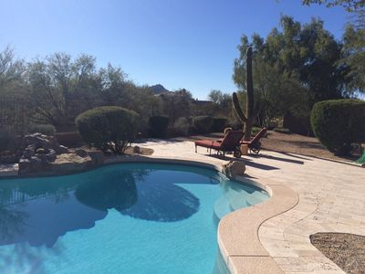 Photo for Luxury Private Troon North Home Heat Spa + Pool2Br2Ba+Den Sleeps Six 30day min