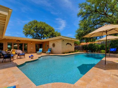 Photo for Opulent Plantation-Style Getaway with Lake View, Outdoor Living & Pool