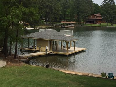 Photo for Pea Hill Retreat/Lake Gaston 5 Bedroom in quiet cove /Sandy Beach/ping pong