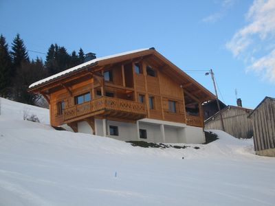 Photo for 4 Bed Chalet with Spectacular Views of Les Gets and its Ski Area (sleeps 8-10)