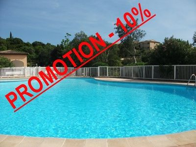 Photo for 2-rooms in a provencal residence with sea view and and swimming pool