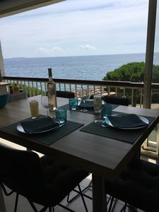 Photo for Luxury apartment completely renovated facing the sea any convenience on foot