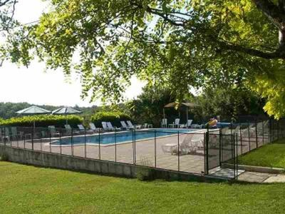 Fully fenced heated pool